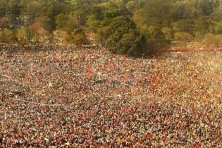 কলকাতায় বাম-কংগ্রেসের সমাবেশে নজর কাড়লেন আব্বাস সিদ্দিকী