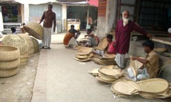 সুজানগর থেকে হারিয়ে যাচ্ছে বাঁশ-বেত শিল্প