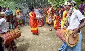গোবিন্দগঞ্জে ওড়াঁও জনগোষ্ঠীর কারাম উৎসব