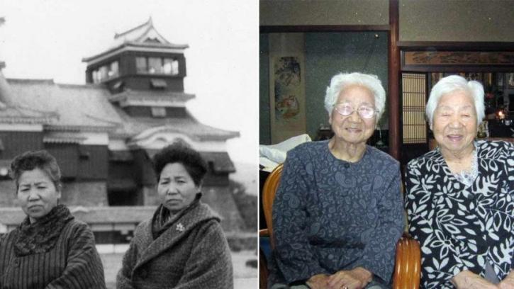 বিশ্বের সবচেয়ে বয়স্ক যমজের রেকর্ড জাপানের দুই বোনের
