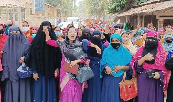শিবগঞ্জে নারী জনপ্রতিনিধিদের বিক্ষোভ সমাবেশ
